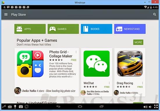 Windroye, Emulator Android yang Paling Ringan