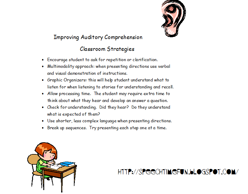 Printables Auditory Comprehension Worksheets if only i could get professional development hours for following design all of my speech lessons and activities to help promote listening skills strategies
