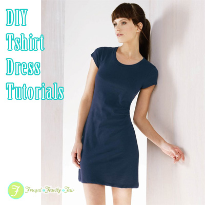 Lastest 10 Free Woman39s TShirt Upcycled To Dress Patterns Amp Tutorials  Fab