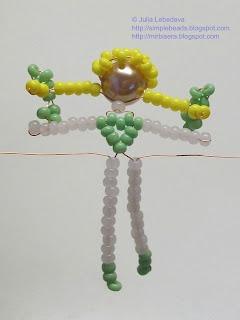 Бисероплетение для самых-самых начинающих: Девочка из бисера