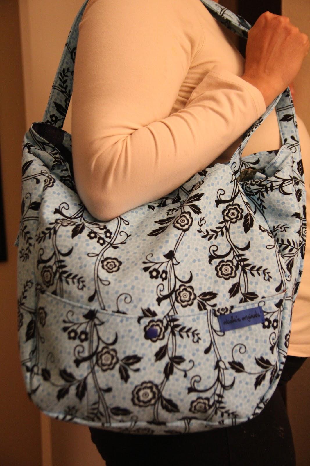 nicolle 39 s originals tutorial convertible tote and backpack or diaper bag free diaper bag pattern. Black Bedroom Furniture Sets. Home Design Ideas