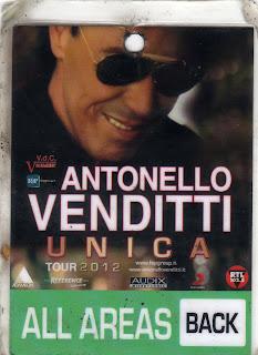 Pass Antonello Venditti tour 2012