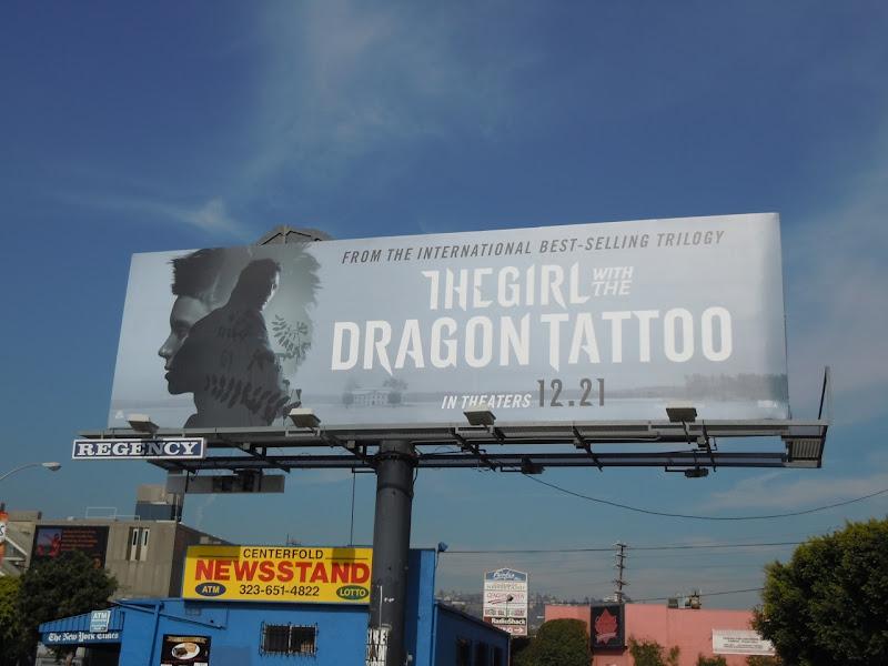 Girl with the Dragon Tattoo movie billboard