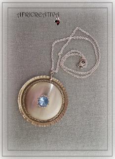 Collana argento con swarovski azzurro