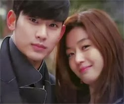 Min Joon and Song Yi's selfie.