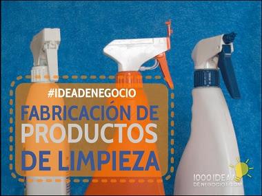 negocio fabricación productos de limpieza