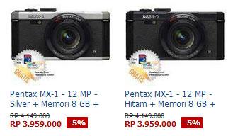 Harga Kamera Pentax MX-1