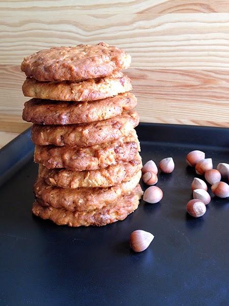 receta galletas de avellana y chocolate blanco