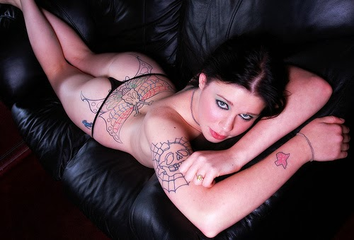 Hot and Sexy Pose Girl Tattooed