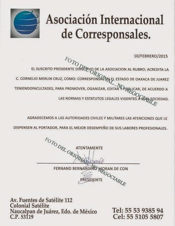 ACREDITACIÓN OFICIAL DE AIC
