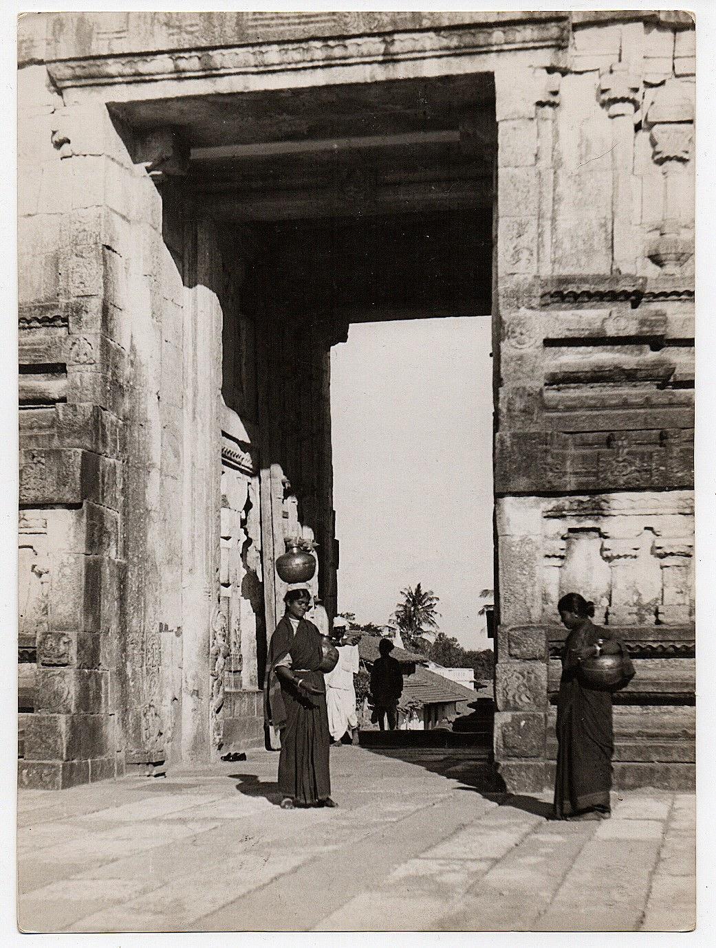 Gateway of a Temple at Belur, Karnataka - c1930's