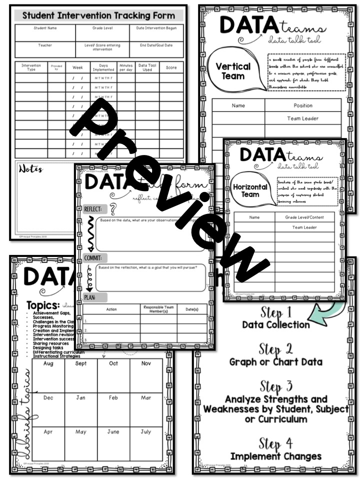 Data Talks And Documentation Forms With Ease Principal Principles