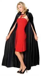 Black Velvet Witches Cape