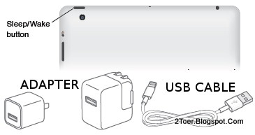 Sleep Power button Adapter USB Cable iPad 4
