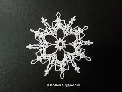 Heklað snjókorn - Grays Peak Snowflake
