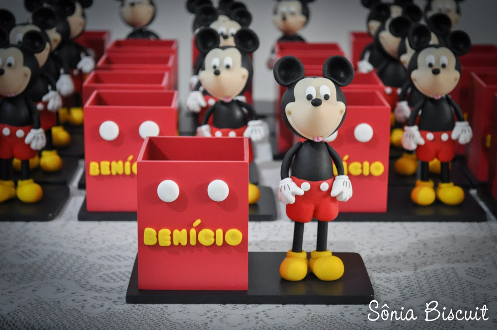 Mickey Lembrancinha Porta-Lápis Biscuit