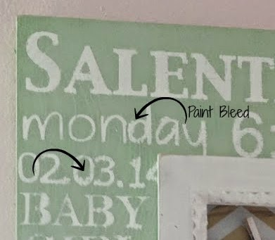 How To Paint A Stencil Without Bleeding Silhouette School - How to get vinyl lettering to stick to textured walls
