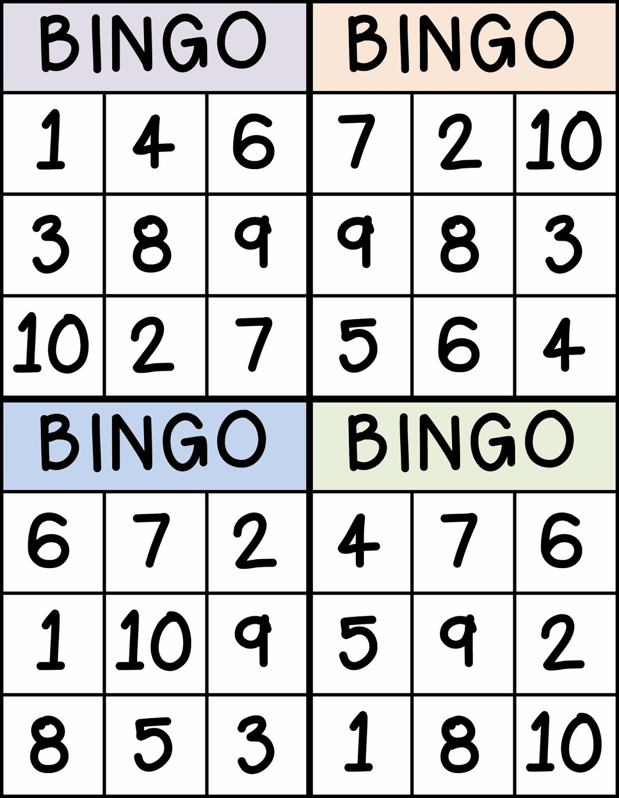 Trust image within number bingo printable