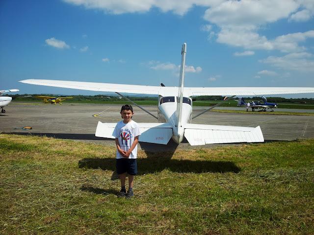 Danny Bader Braves Plane Flight Pembrokeshire