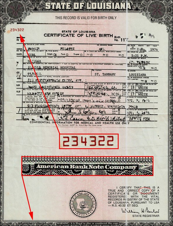 MIKIPEDIA LAW BLOG: STATE OF LOUISIANA CERTIFICATE OF LIVE BIRTH