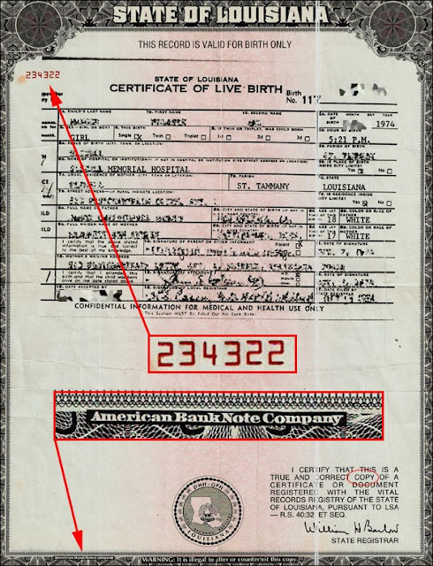 certificate state birth louisiana dc certificates states united charity american