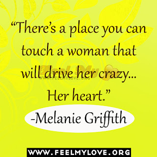 There's a place you can touch a woman that will drive her crazy…