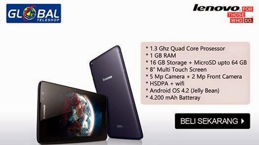 Gambar dan spek Lenovo A8-50 A5500