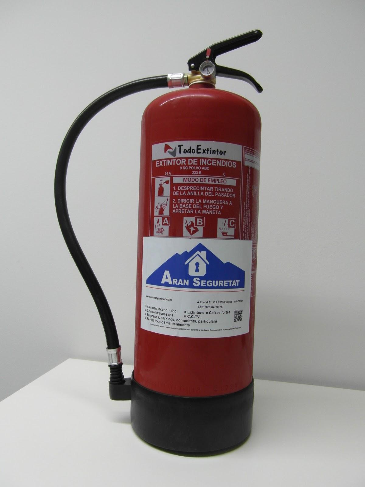 Aran seguretat revision de extintores - Extintor para casa ...