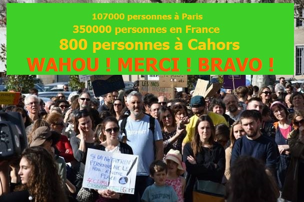 Marche pour le climat à Cahors : énorme !