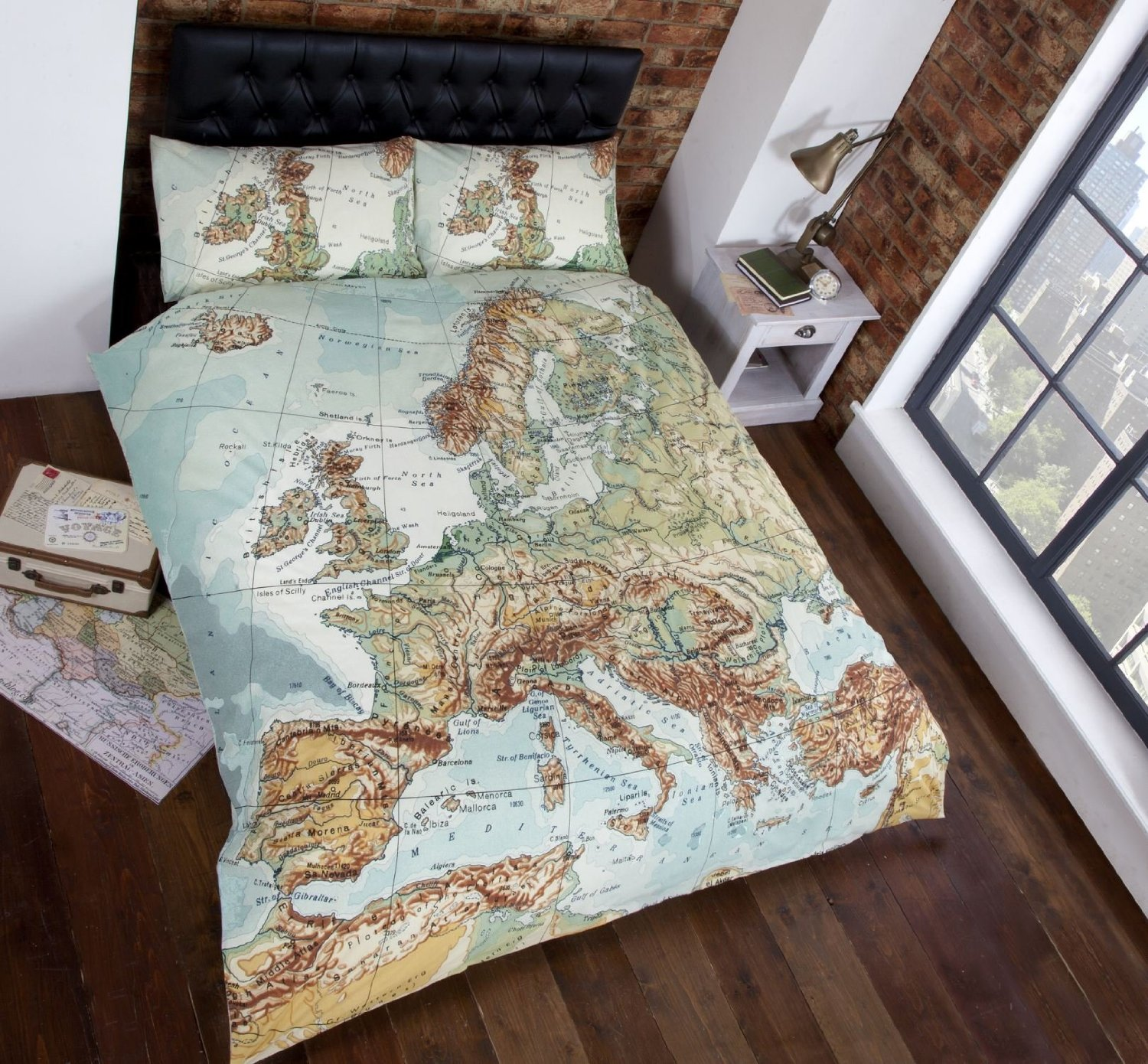 World & Map Themed Comforter and Bedding Sets