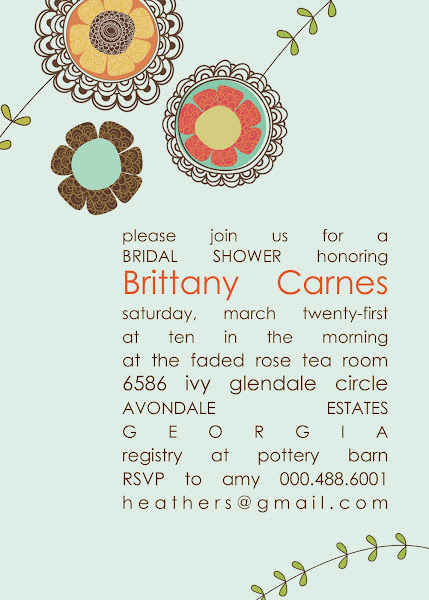 Soho Aloe Bridal Shower Invitation
