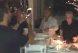 British billionaire, Sir Philip Green takes part in Greek tradition, smashes 200 plates worth €20 each during dinner date Kris Jenner and Tommy Hilfiger