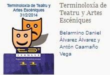 Terminoloxía de Teatru y Artes Escéniques