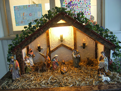 Decorated Christmas Cribs