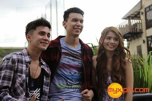 Luigi D'Avola, Gianna Llanes and Vieo Lopez MYX VJ Search 2014 winners