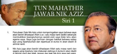 TU DIA!!! EKLUSIF!!! TUN MAHATHIR JAWAB TOK GURU NIK AZIZ