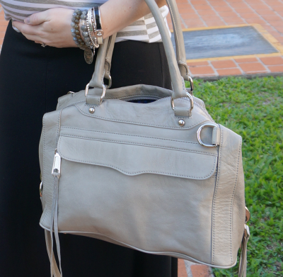 away from blue rebecca minkoff soft grey MAM bag broken in