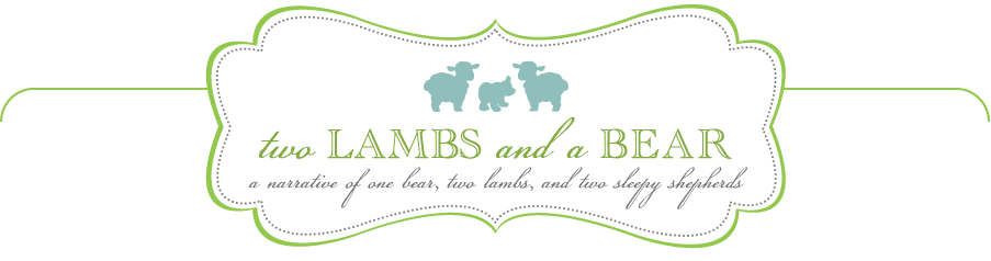 Two Lambs and a Bear