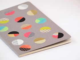 DIY: dot notebook with washi tape - close-up by momentstolivefor