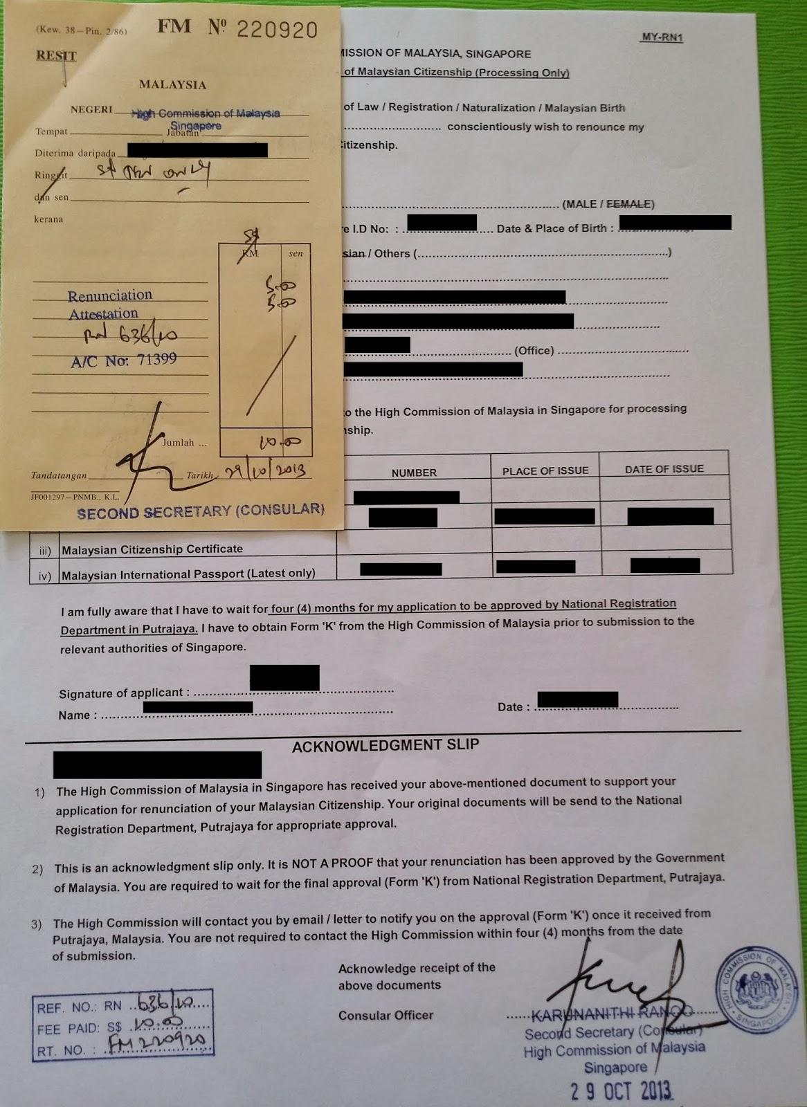 World Without Strangers Singapore Citizenship Registration
