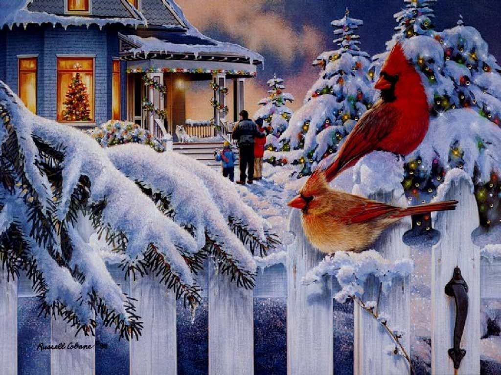 wallpapers noel paysage christmas - photo #43