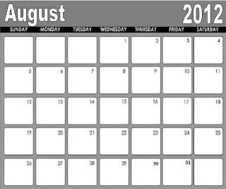 august calendar 2012
