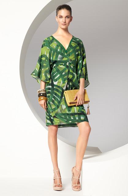 escada yeşil yazlık elbise modeli
