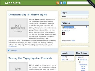 Greenista-blogger-template