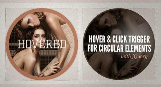 Hover and Click Trigger Circular Elements