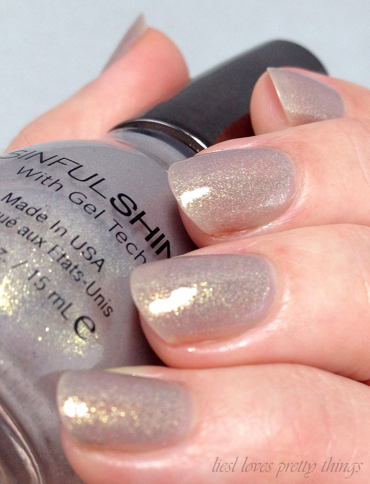 Sinful Shine Prosecco swatch and review
