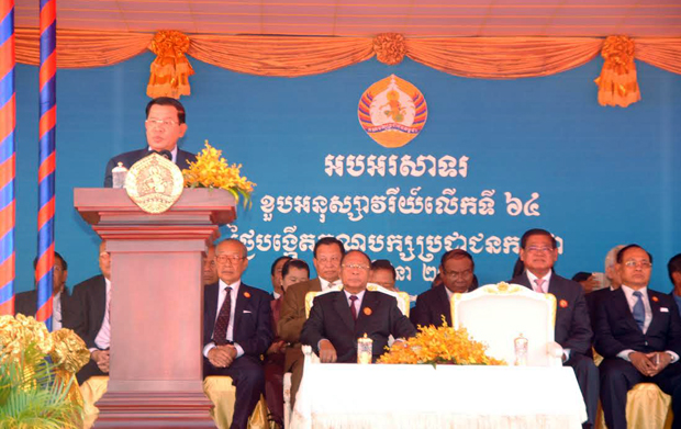 Hun Sen : Economie, le Cambodge restera fort malgré les incertitudes. Photo: Chim Nary