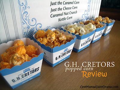 G H Cretors all natural popped corn