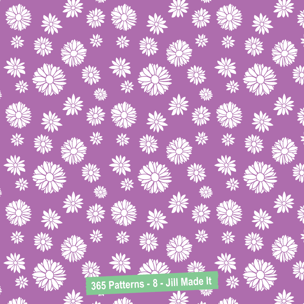 365 Patterns:  White Daisies