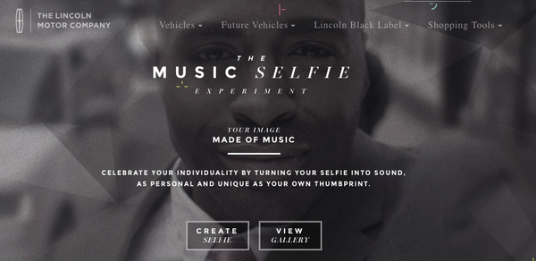 Lincoln Motor Company's Music Selfie Experiment